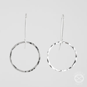 Circle Earrings in Sterling Silver