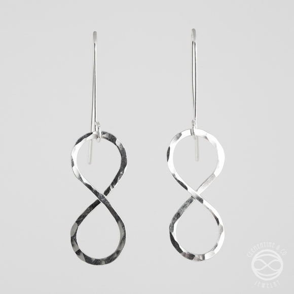 Infinity Earrings in Sterling Silver