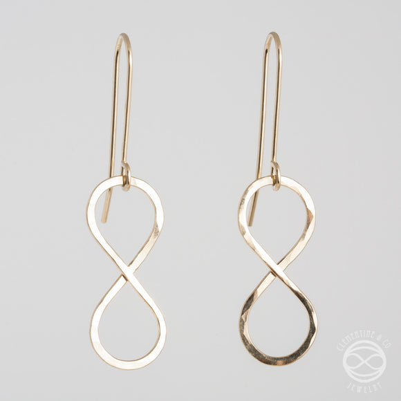 Infinity Earrings in Gold