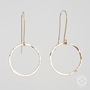 Circle Earrings in Gold