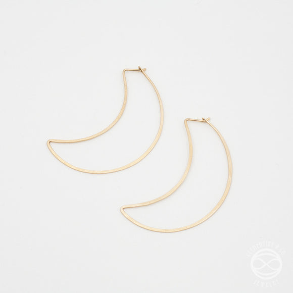 Slivered Moon Earrings