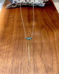 Turquoise Triple Spine Necklace