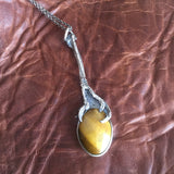 Tigers Eye Bird Claw Pendant