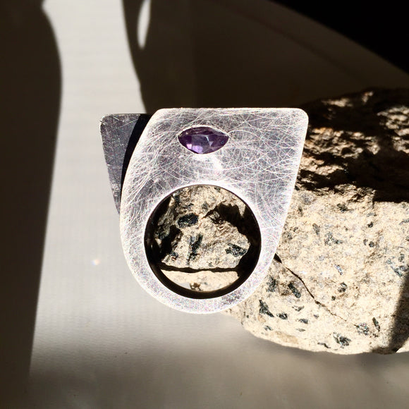 Amethyst Art Cocktail Ring