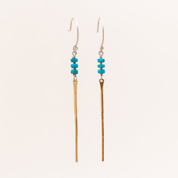 Turquoise Spine Earring