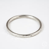 silver stacking rings with hammered pattern