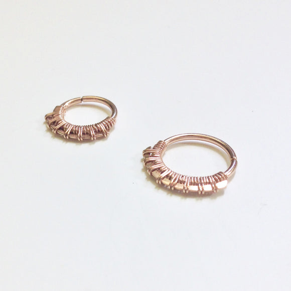 Sundara Septum Ring- Rose Gold