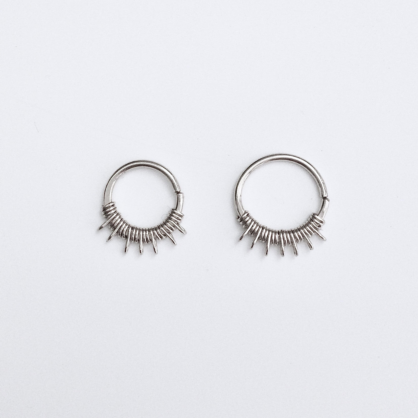 Lalita Septum Ring Silver Clementine Co Jewelry