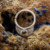 Rahu Septum Ring with Smoky Quartz