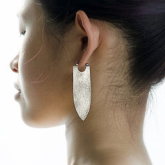 Banner Earrings in Silver