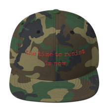 The Time To Resist is Now wool blend snapback