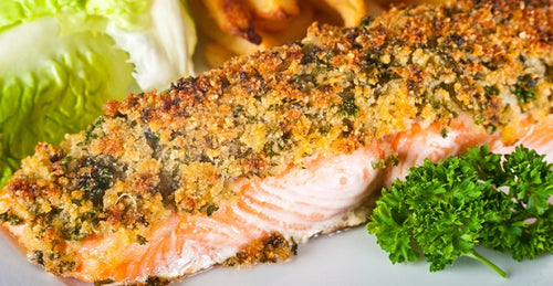 Baked Salmon Fish & Chips