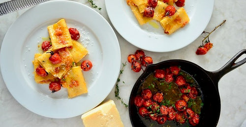 Paccheri with Oven Roasted Cherry Tomatoes