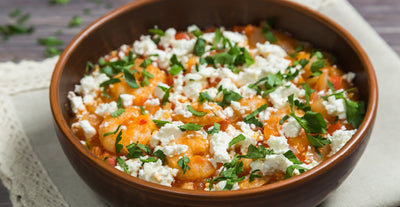 Shrimp and Feta Saganaki