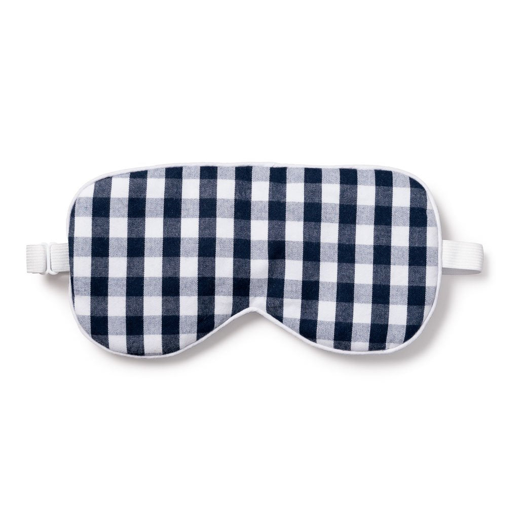 Petite Plume - Sleep Mask - Navy Gingham
