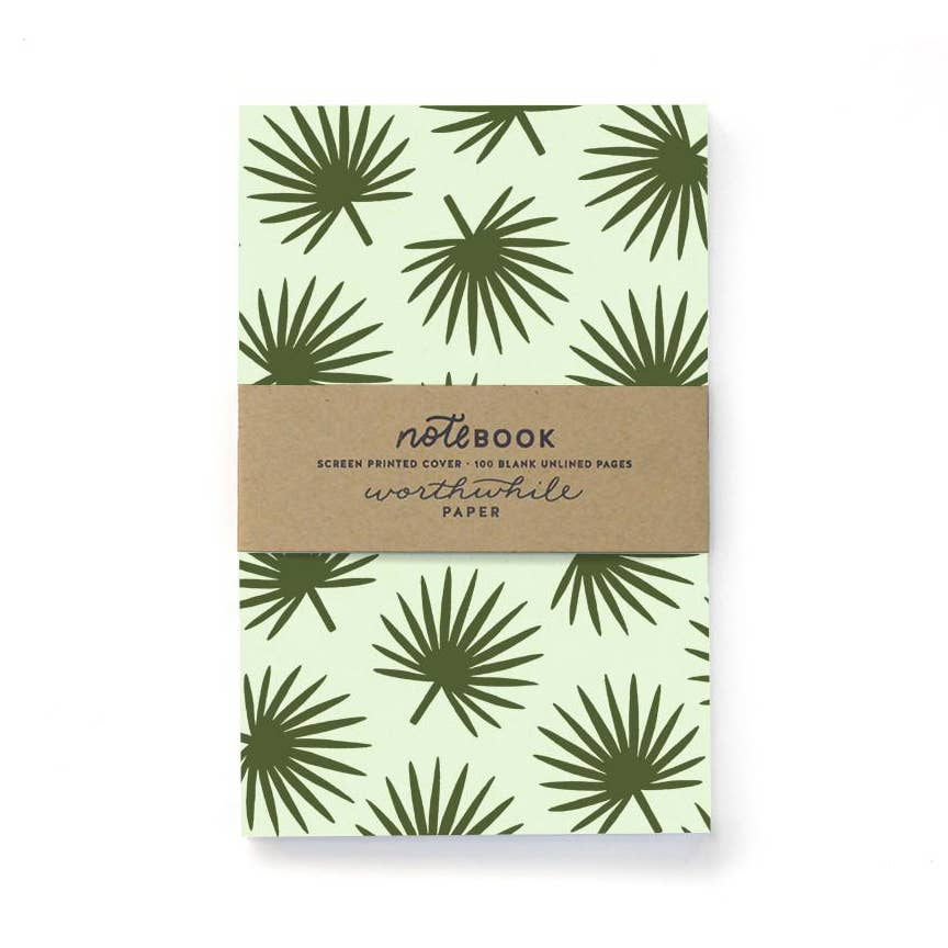 Worthwhile Paper - Tropical Palm Leaf Pattern Notebook