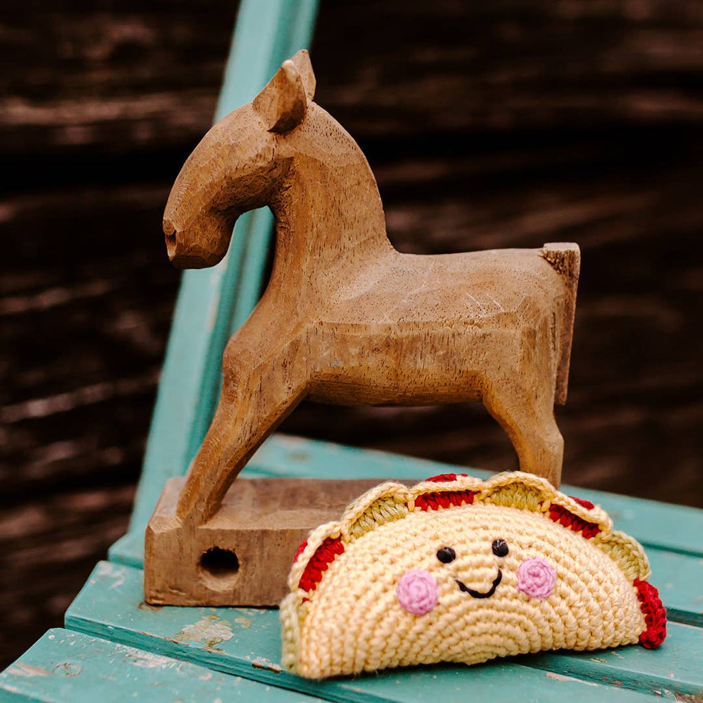 Pebble - Friendly Taco Rattle