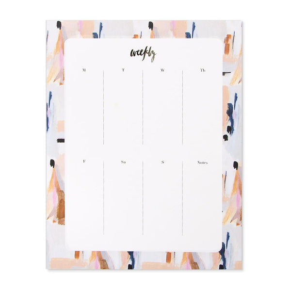Our Heiday - Blue Abstract Agenda Pad