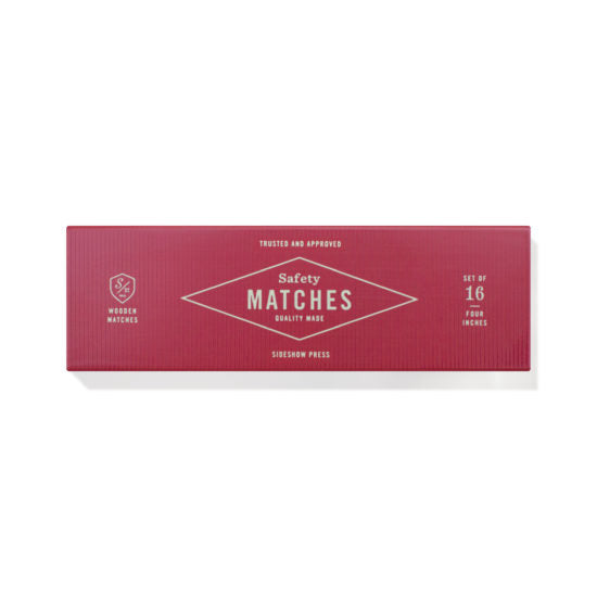 Sideshow Press - Safety Matches - Red