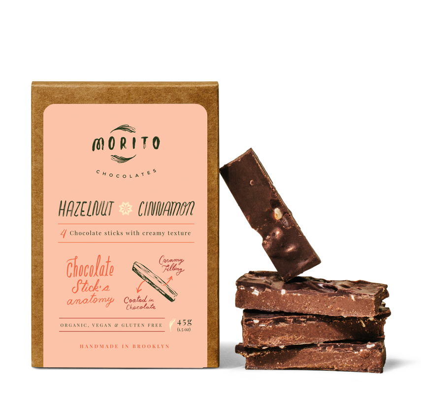 Morito Chocolates - HAZELNUT CINNAMON- Pack of 4