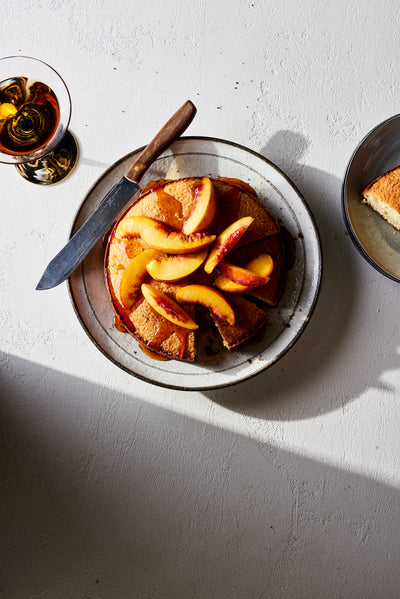 Local Infusion: Buttermilk Cornmeal Cake with Warm Peaches