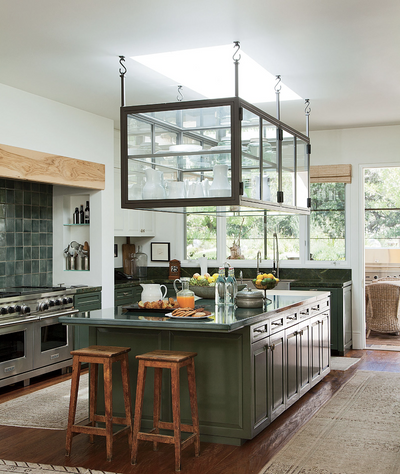 Green Kitchens that Make the A-List
