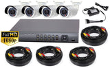 LT Security 4 Camera 2MP HD-TVI 1080P DVR 1TB Storage Video Surveillance System
