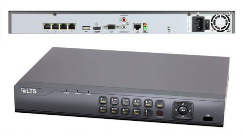 Platinum Pro Video Surveillance 4 Channel POE IP NVR DVR Storage LTN8704-P4
