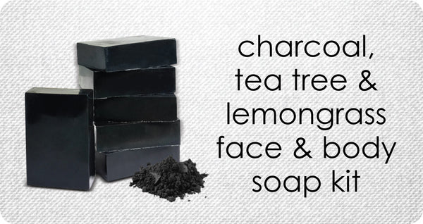 Make Charcoal, Tea Tree & Lemongrass Face & Body Soap for Oily & Acne Prone Skin Types