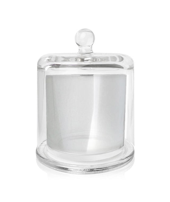 Baby Cloche Jar - Silver Jar with Clear Glass Dome 140-150mls