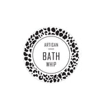 Artisan Bath Whip Label 4.2cm Dia - Transparent