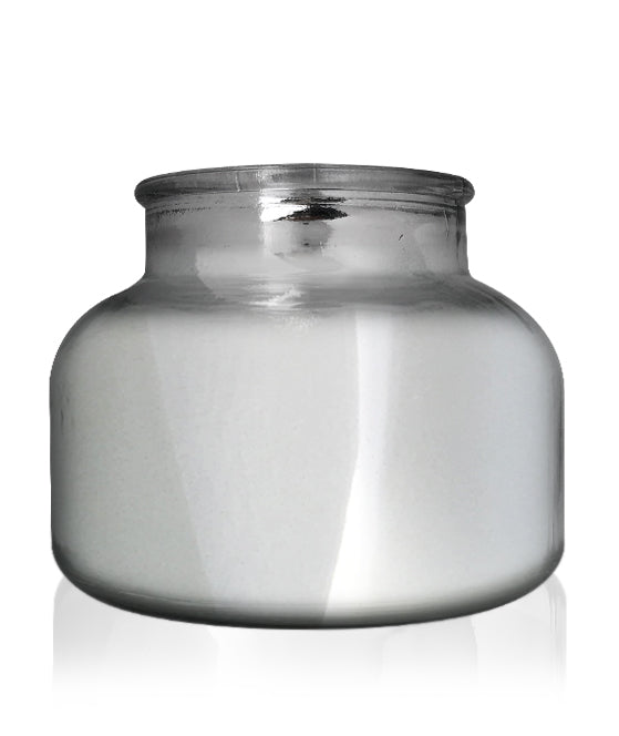 Beaute - Silver Chrome Jar with Black Wooden Lid 650mls