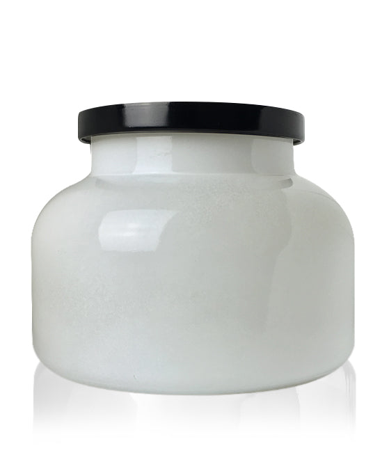Beaute -  White Jar with Black Metal Lid 650mls