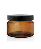 Little Beaute - Amber Jar with Black Wooden Lid 270 -300mls