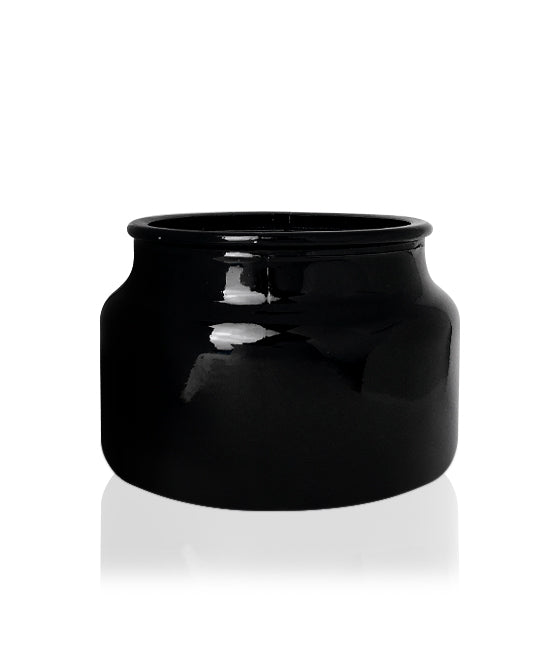 Little Beaute -  Black Hi-Gloss Jar with Silver Metal Lid 270 -300mls