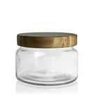 Little Beaute - Clear Jar with Burnt Wooden Lid 270 -300mls
