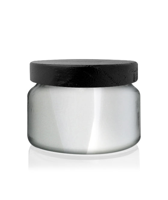 Little Beaute - Silver Chrome Jar with Black Wooden Lid 270 -300mls