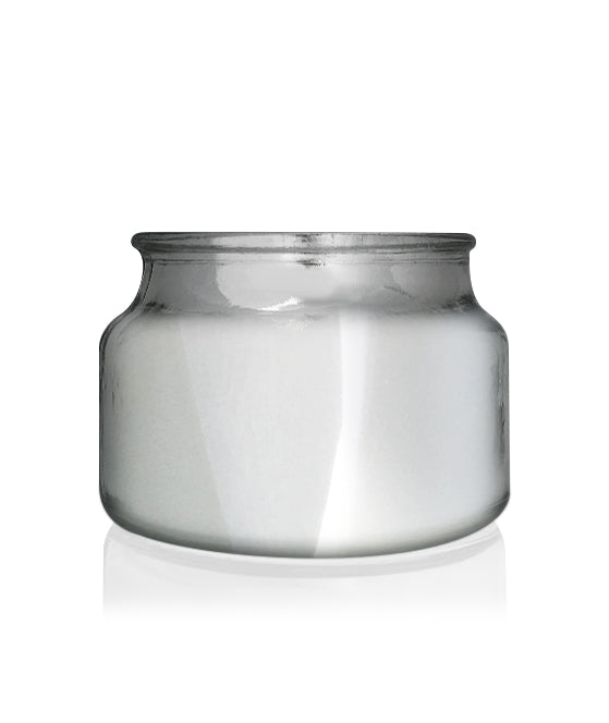 Little Beaute - Silver Chrome Jar with White Wooden Lid 270 -300mls