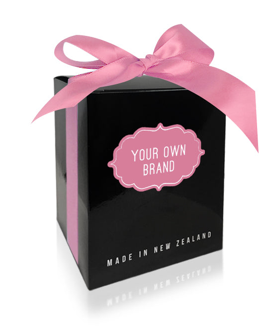 Large Black Ultra Gloss Gift Box & Pink Satin Ribbon