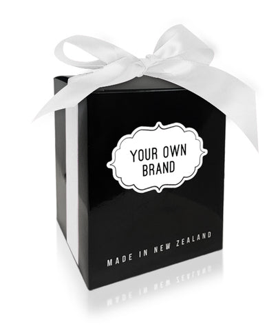 Large White Ultra Gloss Gift Box & White Satin Ribbon