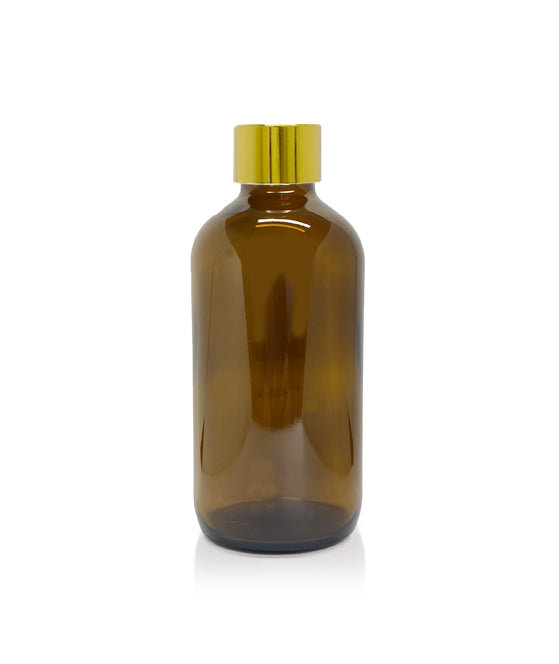250ml Amber Diffuser Bottle - Gold Collar