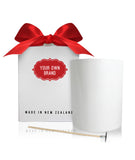 Large Tumbler Bundle - Large White Tumbler + White Box + Red Ribbon + Wick