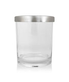 Small Classic Tumbler - Clear Jar with Silver Metal Lid 145mls