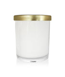 Small Classic Tumbler - White Jar with Gold Metal Lid 145mls