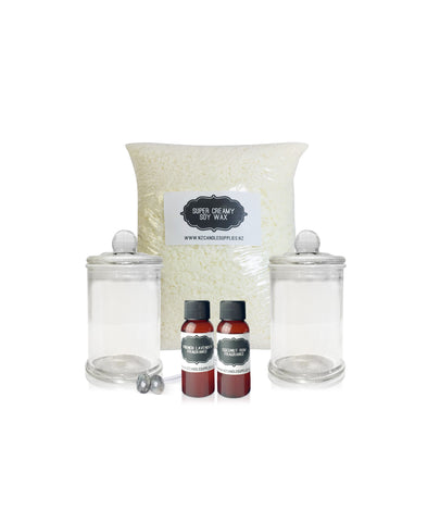 Citronella Soy Wax Candle Making Kit - 2 Large Candles