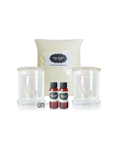 Clear Cloche Jar Soy Candle Making Kit