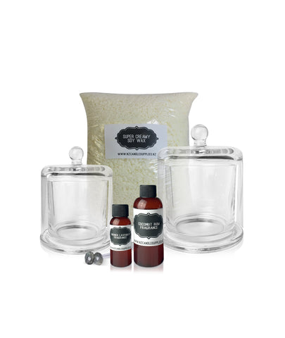 Pourable Soy Massage Candle Kit (2 Candles)