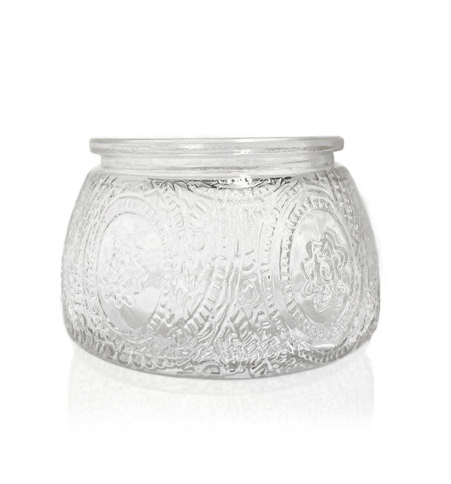 Multiflora Cut Glass Candle Jar - 200mls