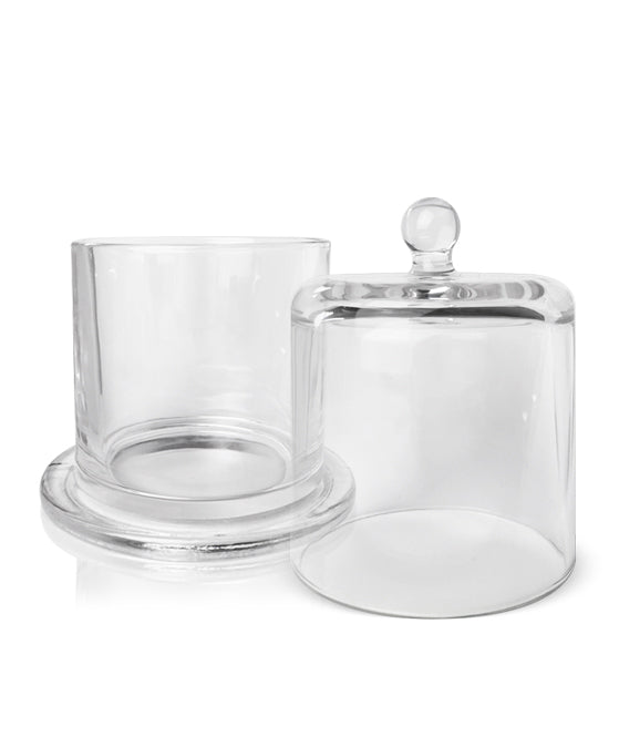 Cloche Jar - Clear Jar with Clear Glass Dome 250 -275mls