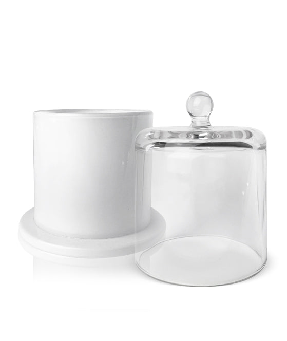 White Cloche Jar Soy Candle Making Kit